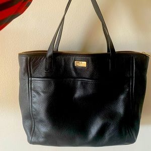 Like New Gorgeous Black Leather Kate Spade Tote!